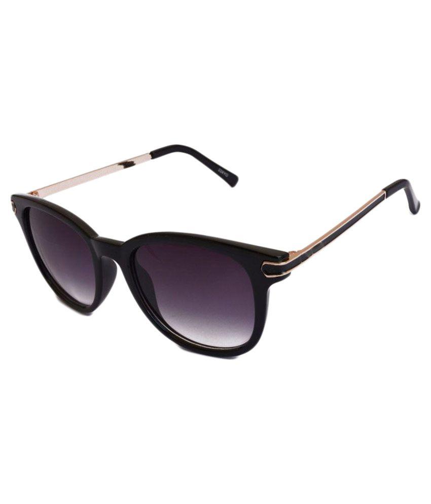 Roadster Black Wayfarer Sunglasses ( Fnd )