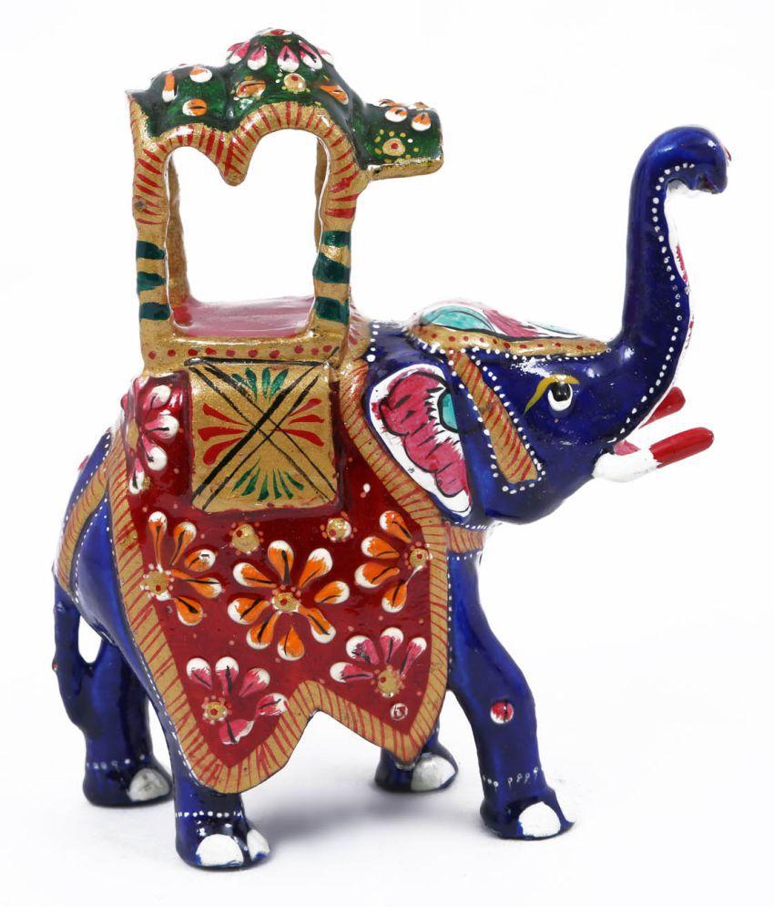 Creative Craft Metal Meenakari Elephant Home Decorative Handicraft Gift