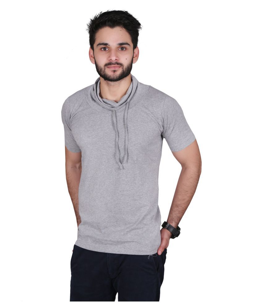 Ingens Grey Hooded T-Shirt