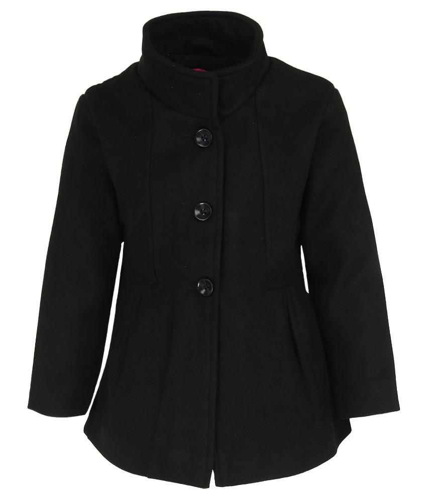 612 League Black Solid Coat