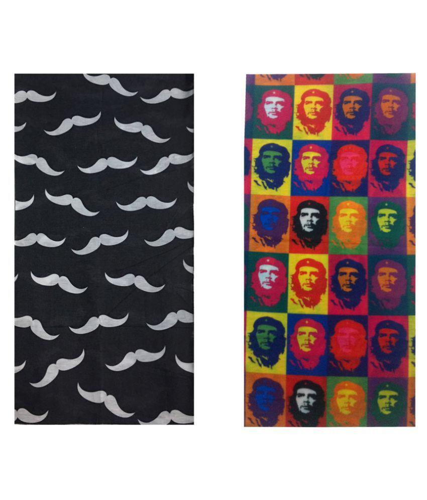 Atyourdoor Multicolour Polyester Headwrap - Set of 2