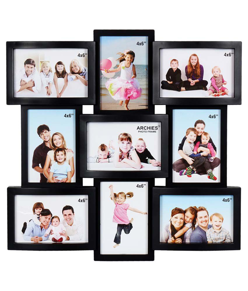 905431fa4875 Archies Collage Frames Plastic Wall Hanging Black Collage Photo Frame  Buy  Archies Collage Frames Plastic Wall Hanging Black Collage Photo Frame at  Best ...