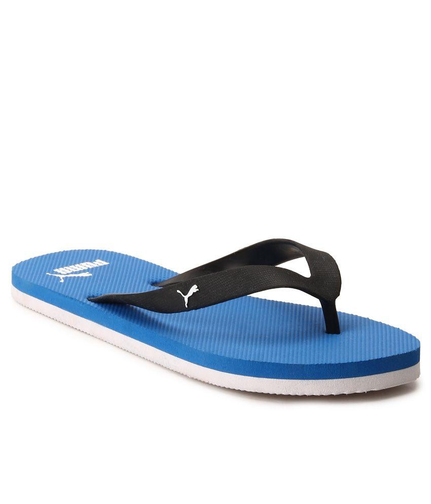 Puma Blue & Black Odius DP Flip Flops