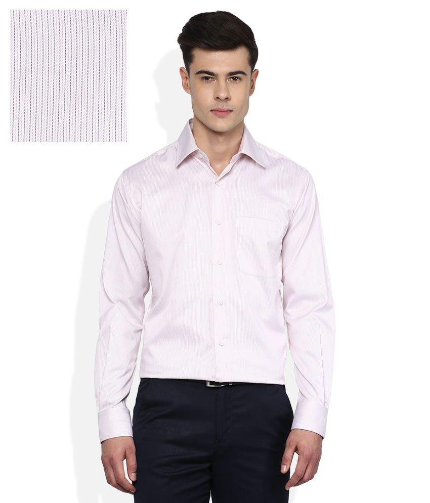 Raymond Red Slim Fit Stripes Shirt