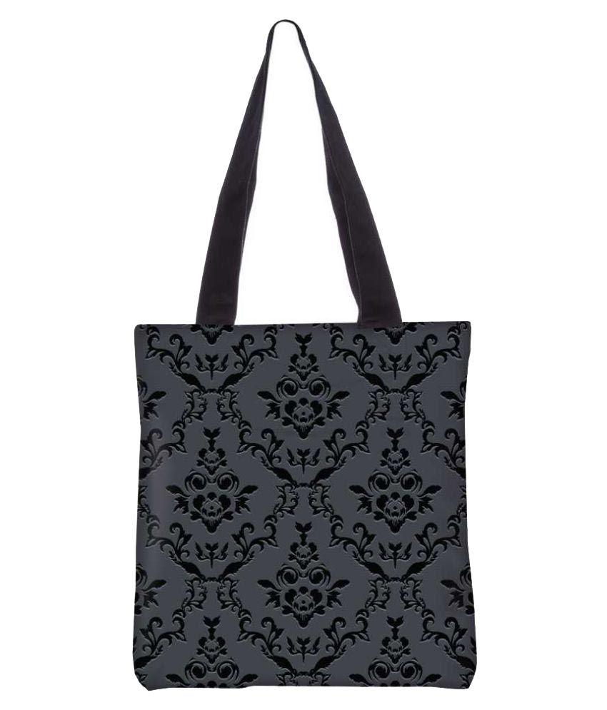 Snoogg Gray Canvas Tote Bag