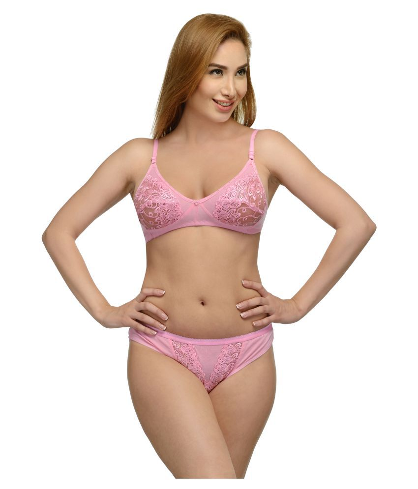 7f15691bb Buy Girls Care Pink Cotton Bra & Panty Sets Online at Best Prices in India  - Snapdeal