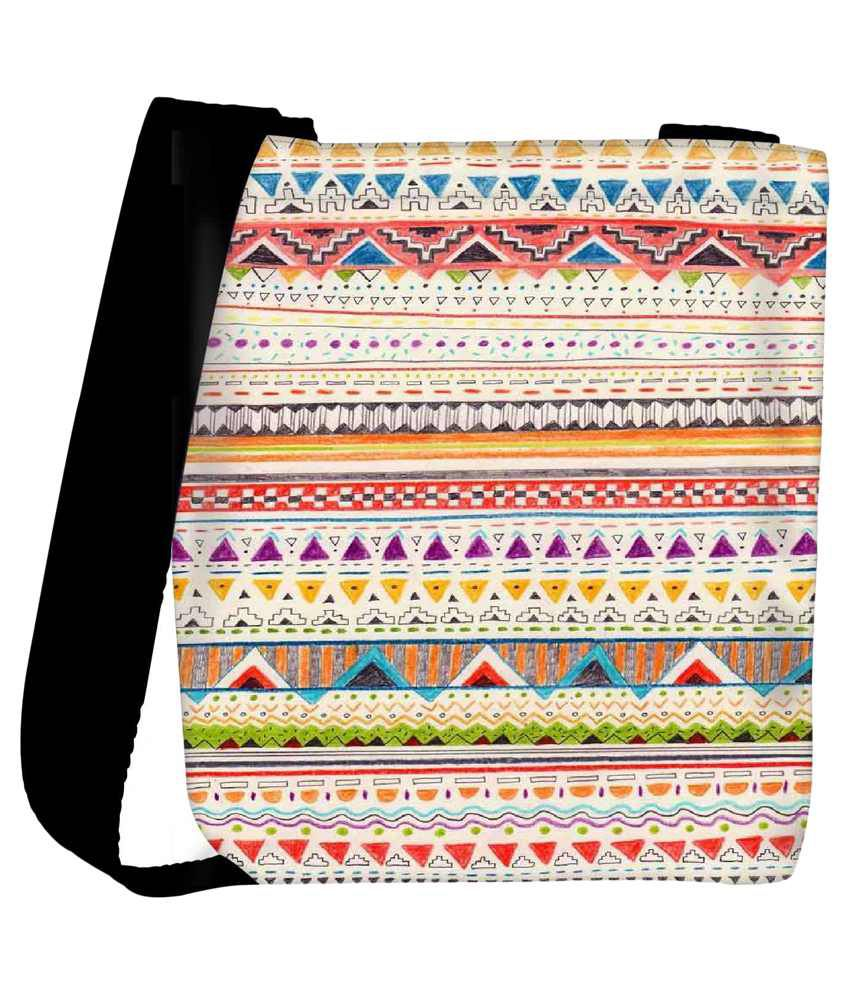 Snoogg Multi Fabric Tote Bag