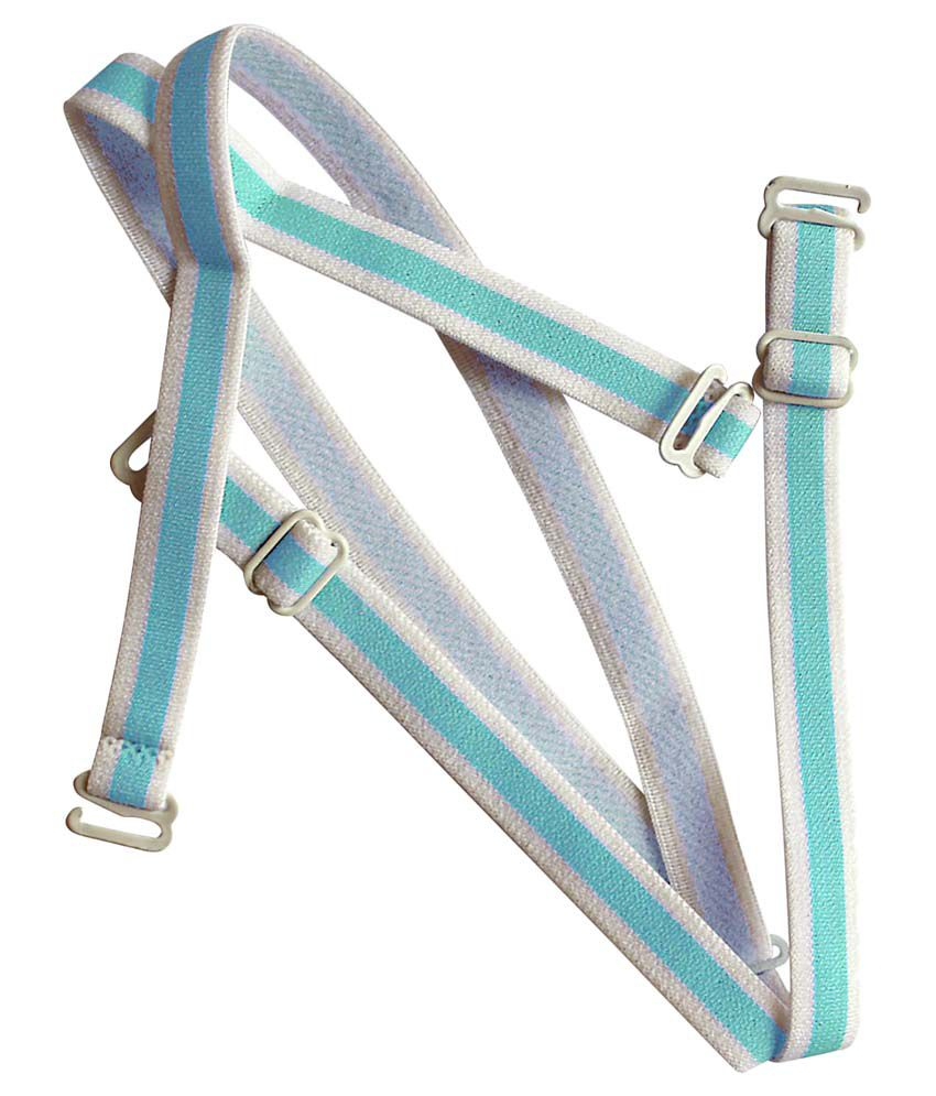 Clovia Blue Detachable Straps With Metal Heart