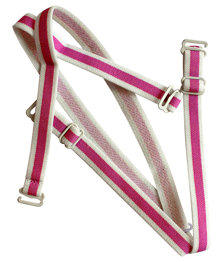 Clovia Pink Detachable Straps With Metal Heart