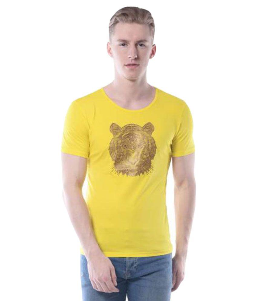 Rags Yellow Round T-Shirt