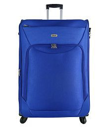 TIMUS UPBEAT SPINNER 79 CM BLUE 4 WHEEL STROLLEY SUITCASE FOR TRAVEL (LARGE CHECK-IN LUGGAGE )