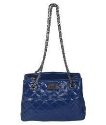 Mriga Retail Blue Faux Leather Sling Bag