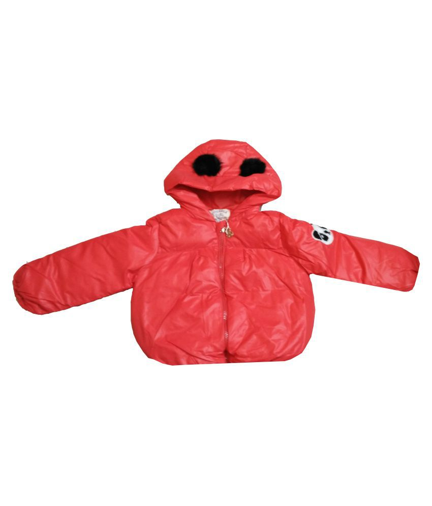 Assent Store Red Polyester Jacket for Girls