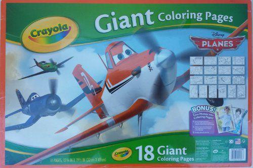 Crayola Giant Coloring Pages Disney Pixar Planes Coloring Book 18 ...