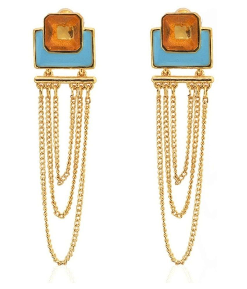 Crunchy Fashion Multicolor Hanging Earrings