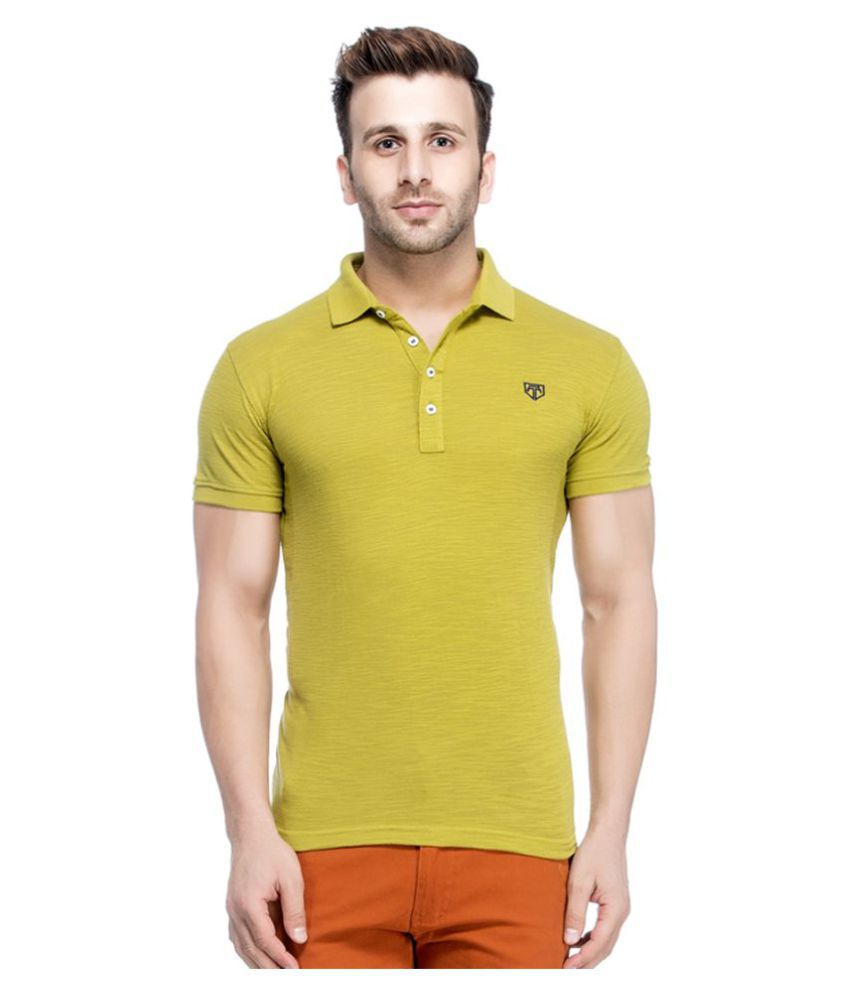 Tinted Green Cotton Blend Polo T-Shirt Single Pack