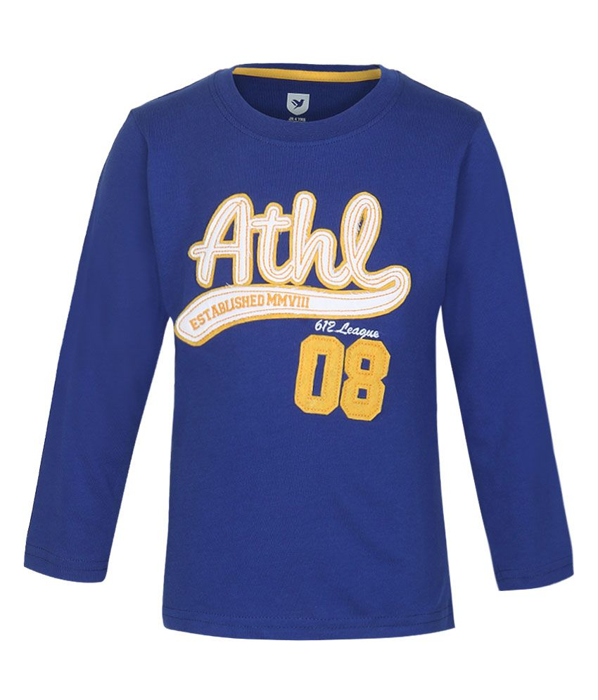 612 League Blue Solid Regular Fit T-Shirt