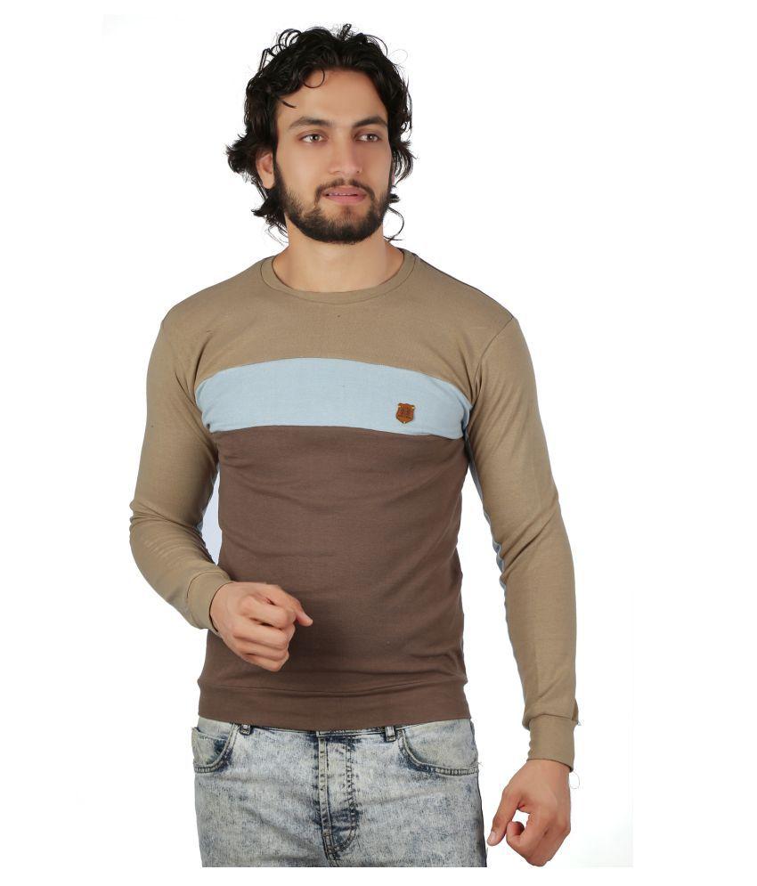 Black and Denim Multi Round T-Shirt