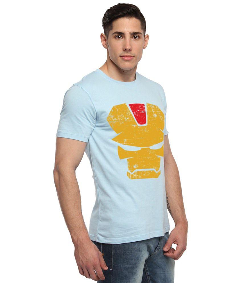 adro combo of 2 blue yellow batman superman iron man logo half sleeves batman superman iron man 2