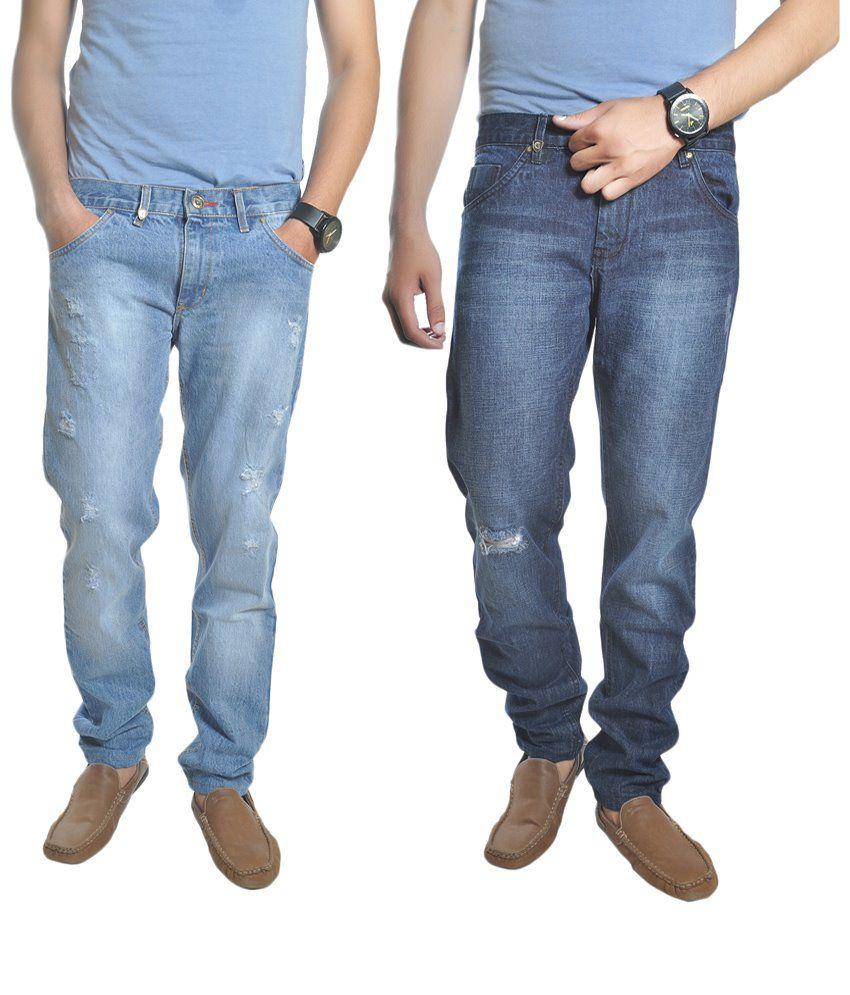 Reckler Pack of 2 Blue Slim Fit Jeans