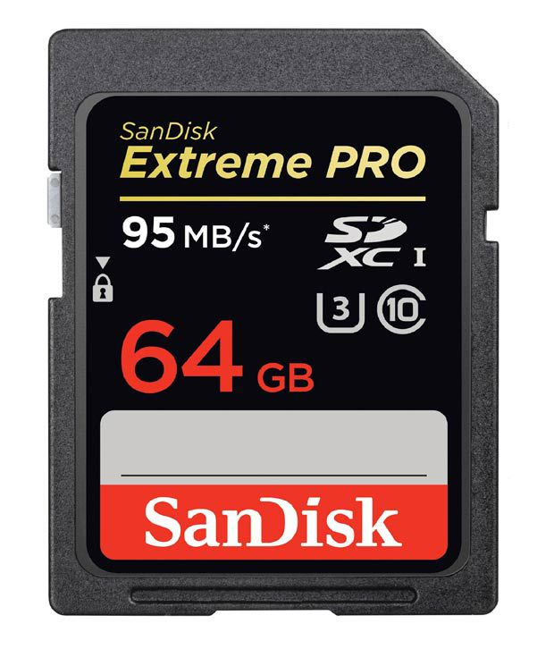 Sandisk Extreme Pro 64 Gb Sdxc Class 10 95 Mb Speed Memory Card