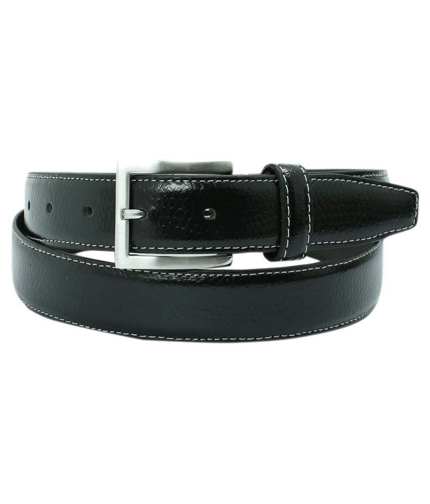 Aspro Leder Black Leather Formal Belt