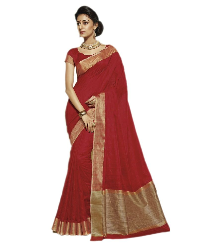 e856ce50fa1da6 Rajguru Brown and Red Raw Silk Saree - Buy Rajguru Brown and Red Raw Silk  Saree Online at Low Price - Snapdeal.com