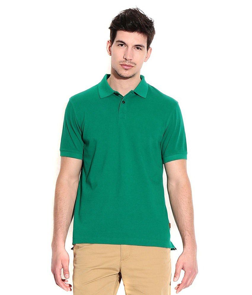 VIBGYOR CREATION Green Cotton Polo T-Shirt
