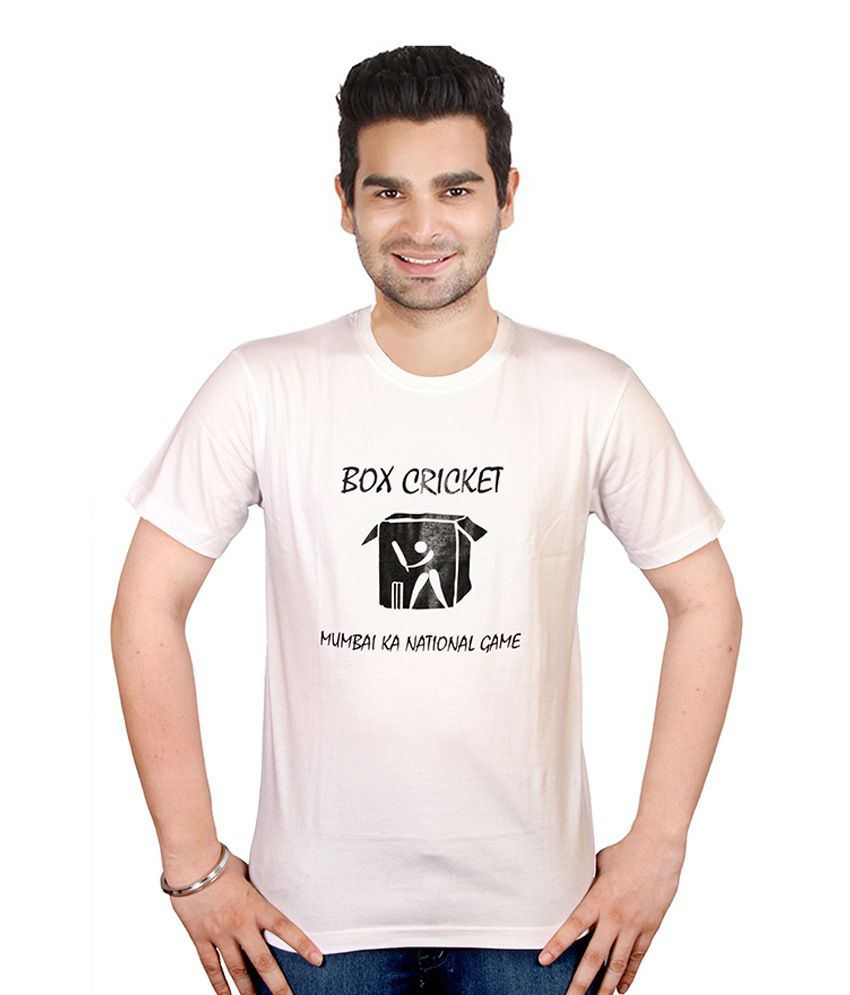 Conceptees White Cotton T-Shirt
