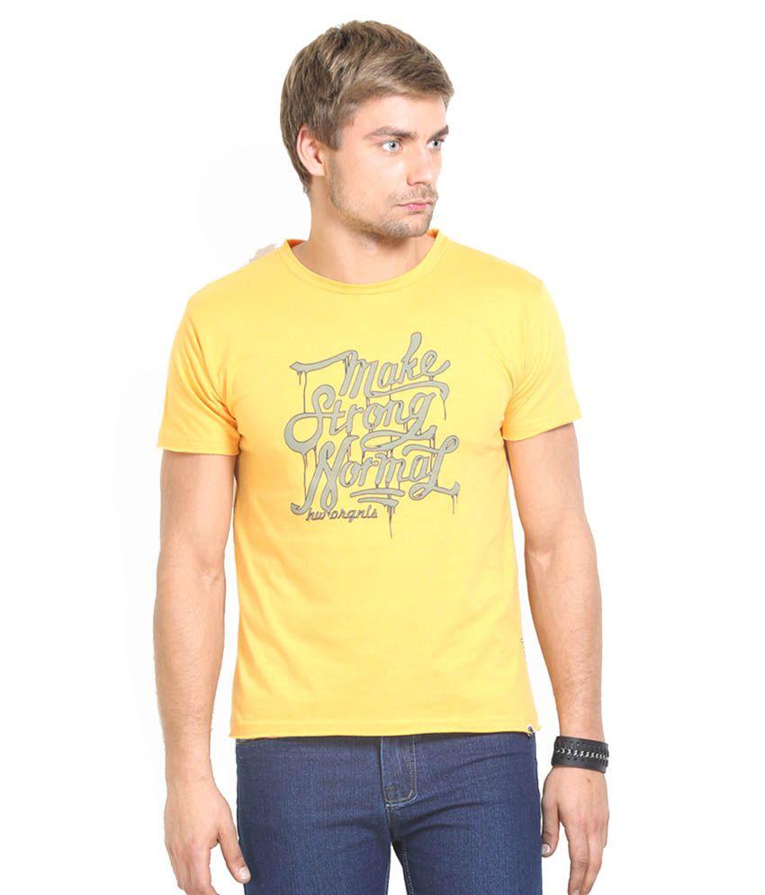 HW Yellow Cotton T-Shirt
