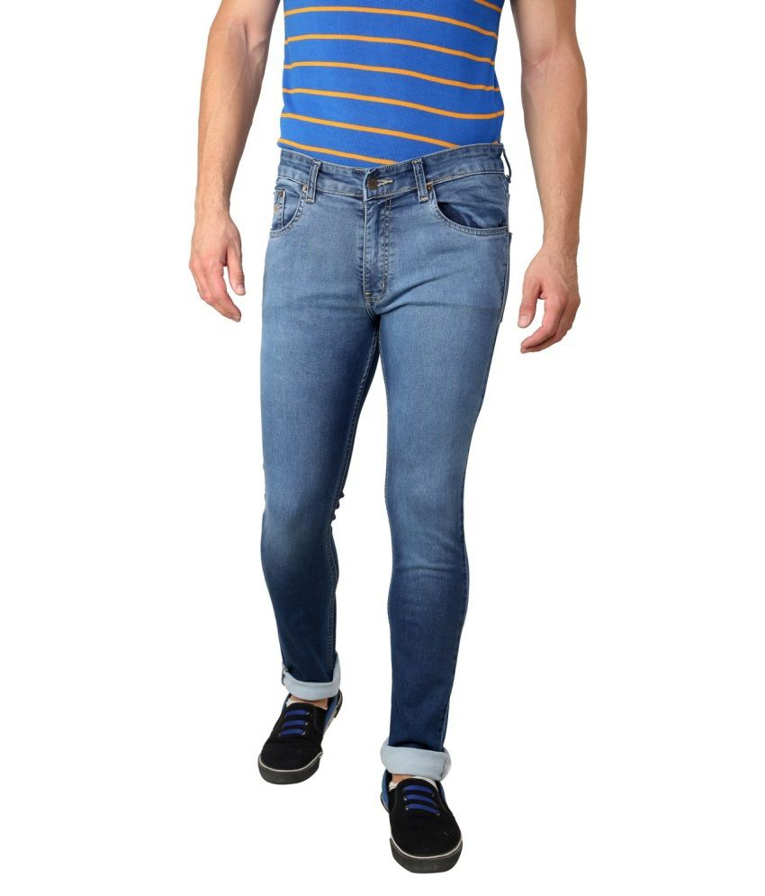 Zaab Orange Slim Fit Jeans