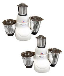 Bajaj 410167 Mixer Grinder White- Pack of 2