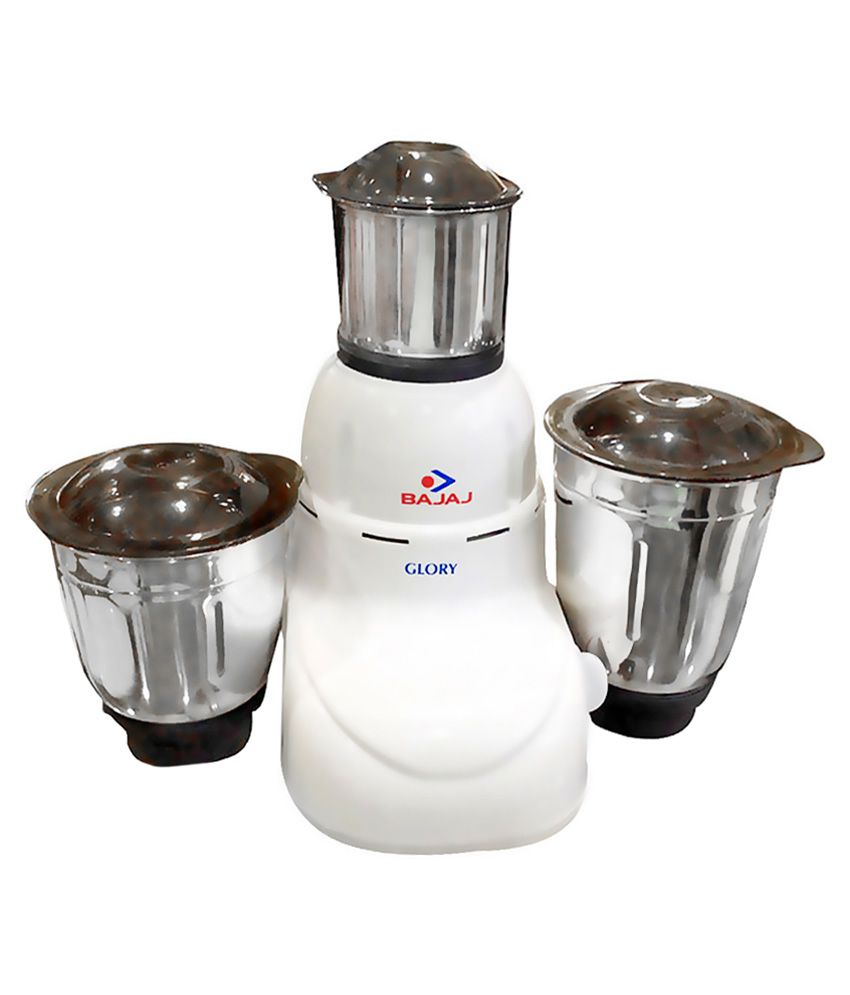 Bajaj Glory 500 W Mixer Grinder - White , 3 Jar