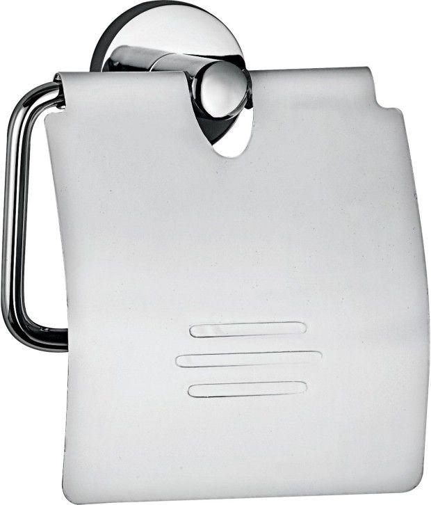 Hindware Chrome Toilet Paper Holder with Cover - F880003CP