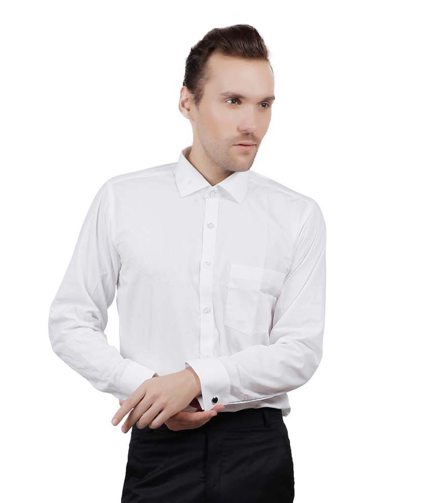 23677de099fb Jorzzer Roniya White Double Cuff With Cufflings Formal Shirt - Buy Jorzzer  Roniya White Double Cuff With Cufflings Formal Shirt Online at Best Prices  in ...