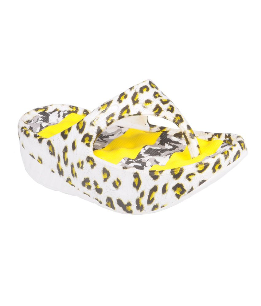 Trilokani Yellow Women's Slippers
