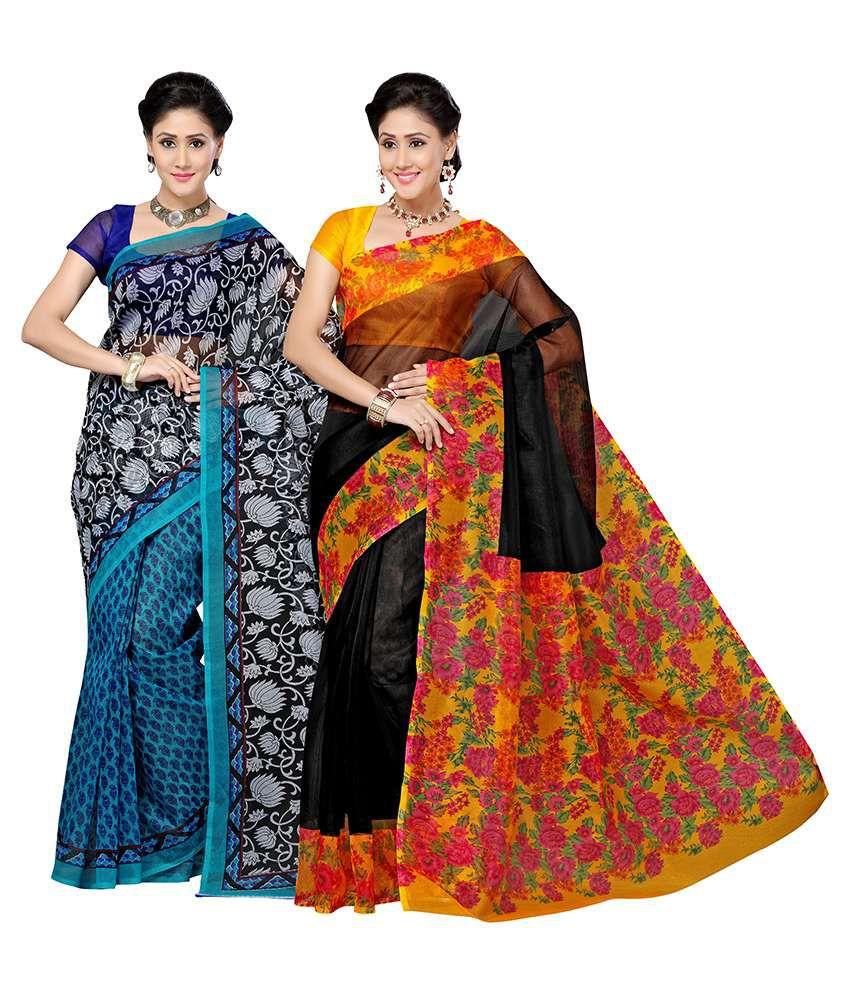 Vritika Multicolour Kota Doria Pack of 2
