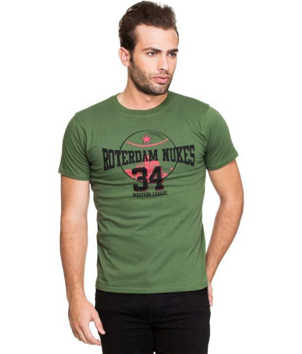 Zovi Green Cotton T Shirt