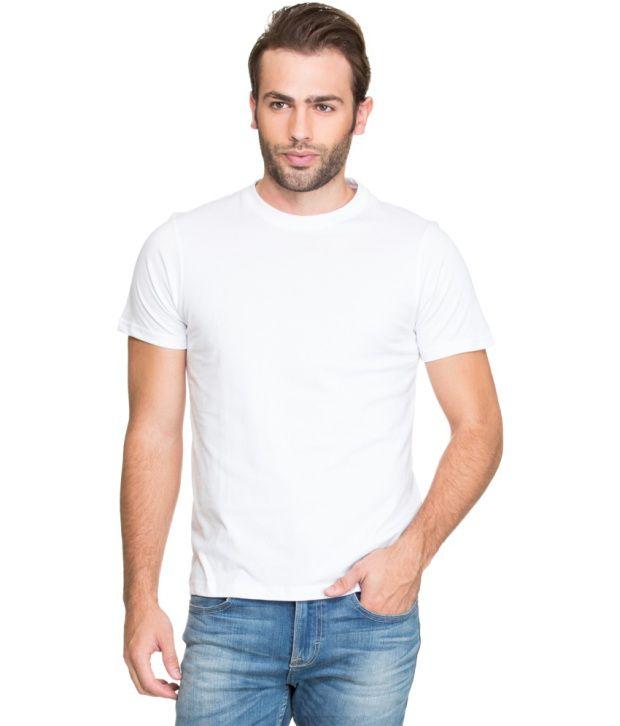 Zovi White Cotton T Shirt
