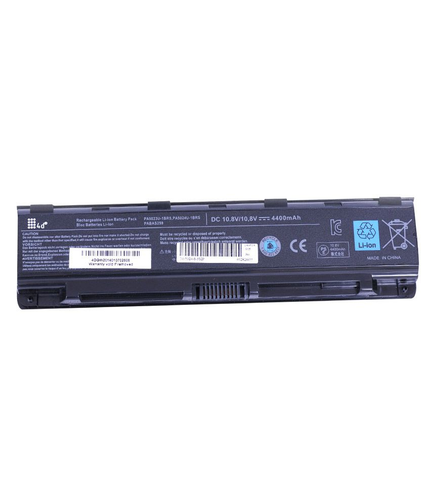 4D 4400 mAh Li-ion Laptop Battery for Toshiba C850-11N