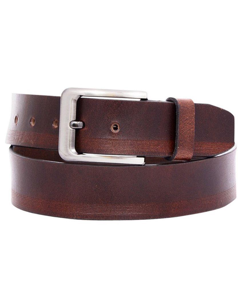 OHM Leather Brown Formal Belt For Men