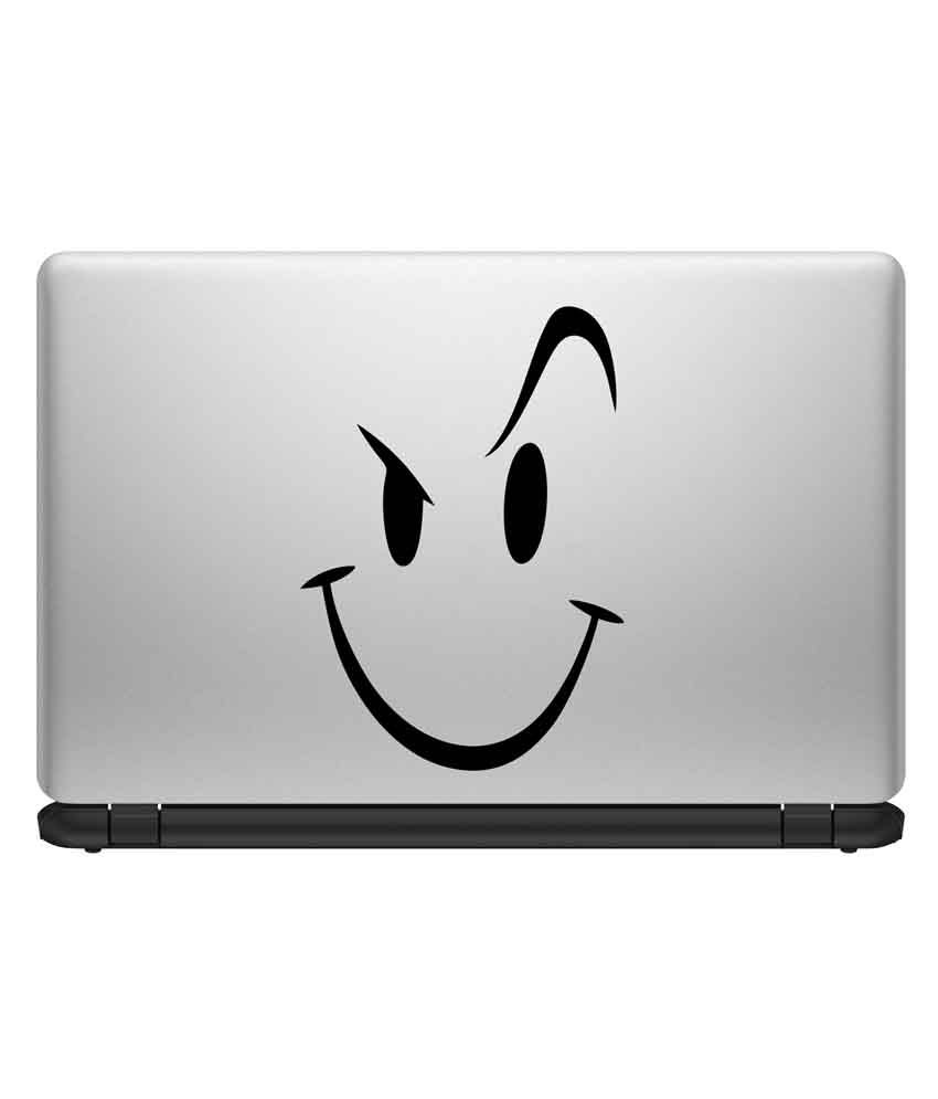 Decor Kafe Decor Kafe Smiley Quote Laptop Sticker