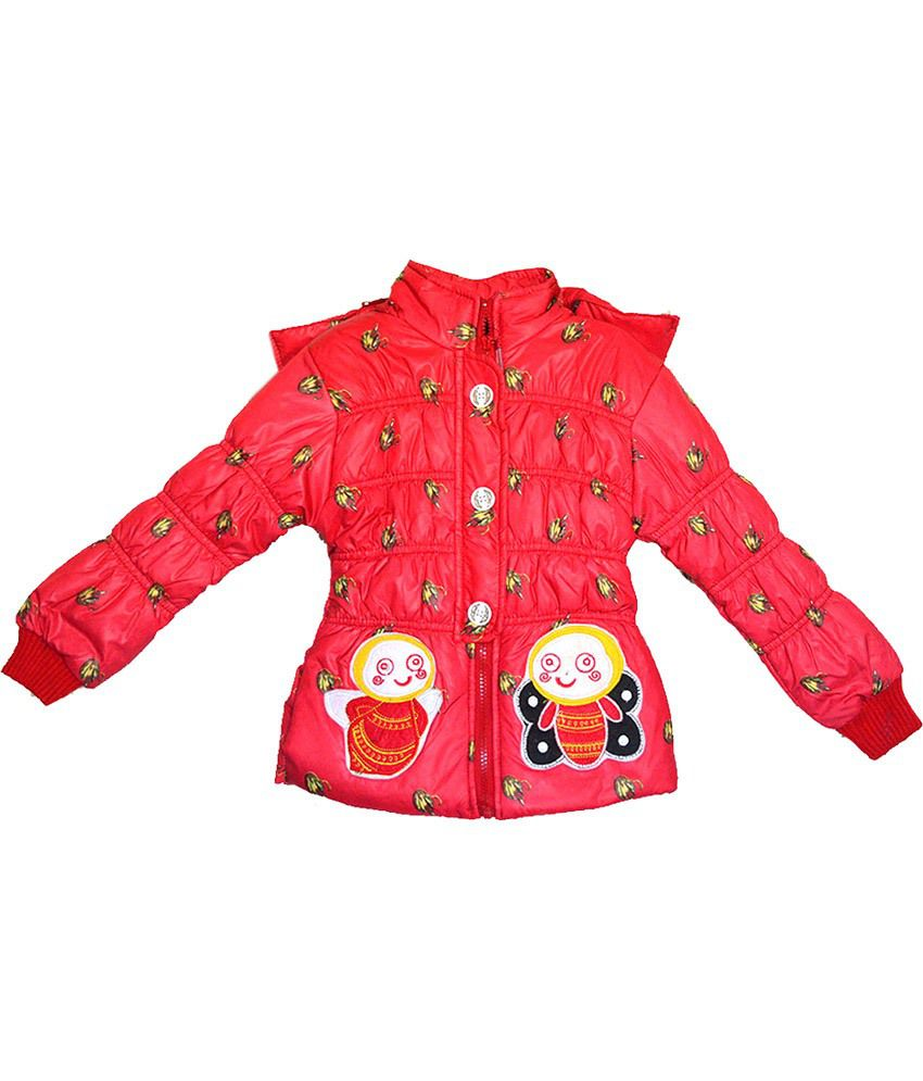 London Girl Stylish Red Hooded Jacket