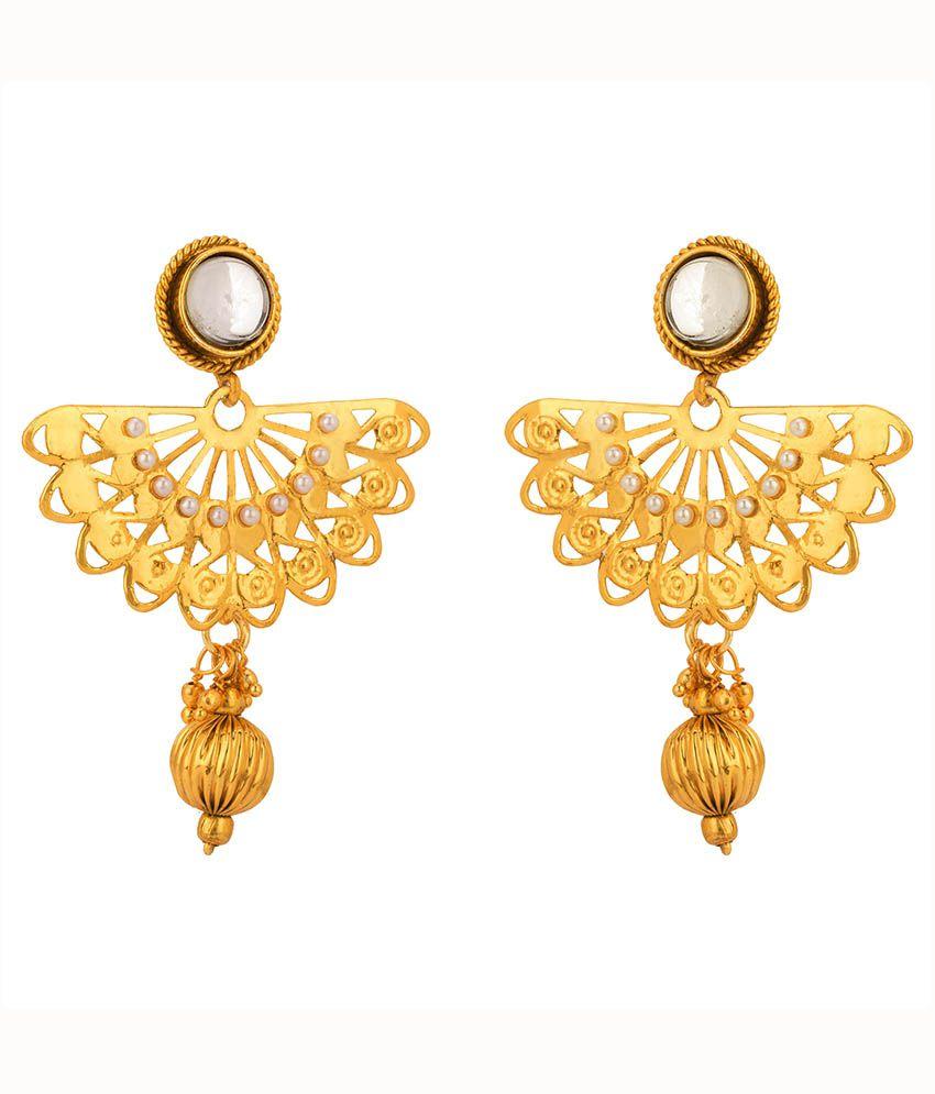 Rajwada Arts Stylish Gold Plated Pearl Ethnic Earrings