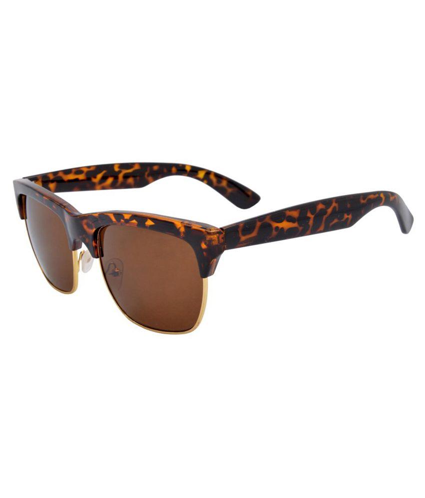 Angel Brown Rectangle Sunglasses