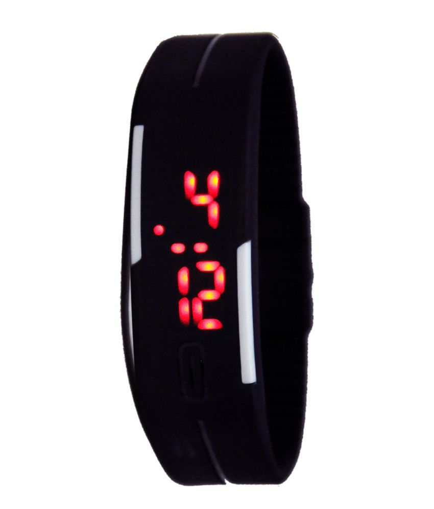 Cosmic Black Casual LED Ladies Wrist Watch