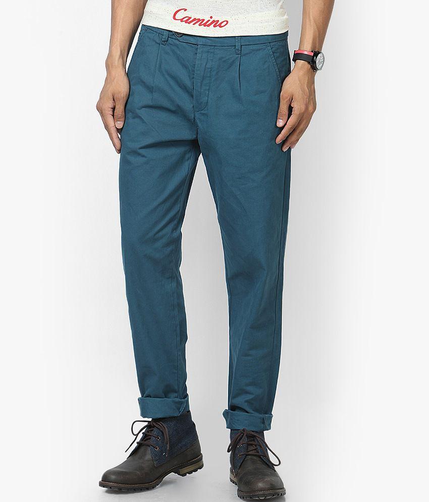 Jack & Jones Blue Regular Fit Casual Trousers