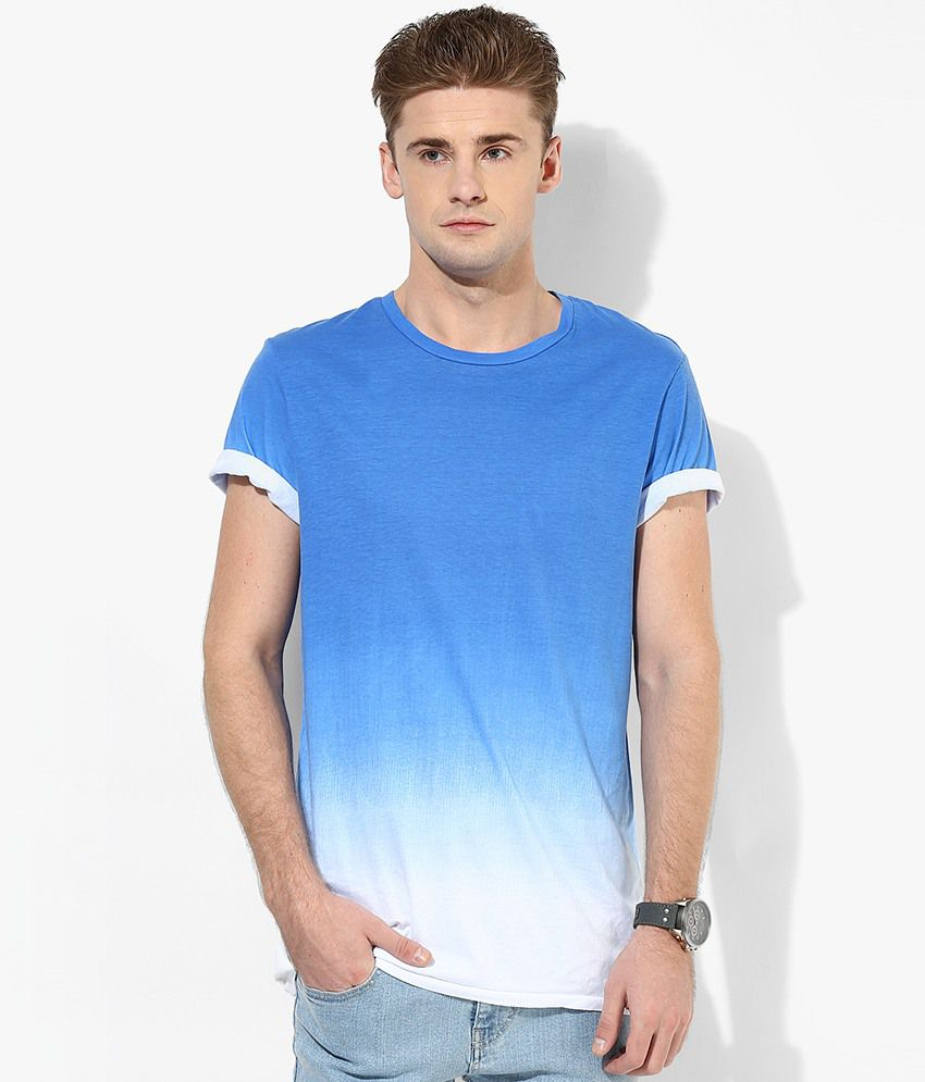 Jack & Jones White Solid Round Neck T-Shirt