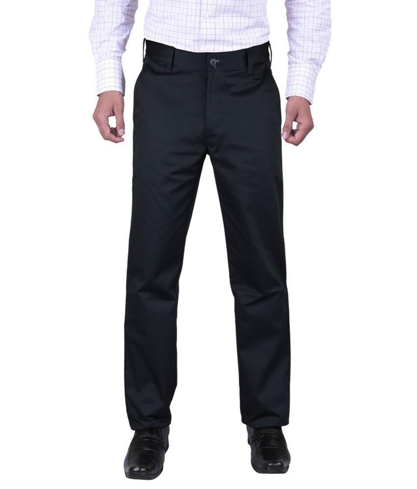 Ketley Black Regular Fit Formal Pleated Trouser