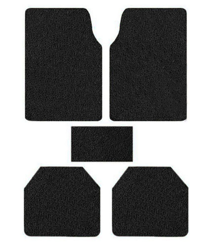 Speedwav Anti Slip Noodle Car Floor Mats SET OF 5 Black-Honda Jazz Type 2